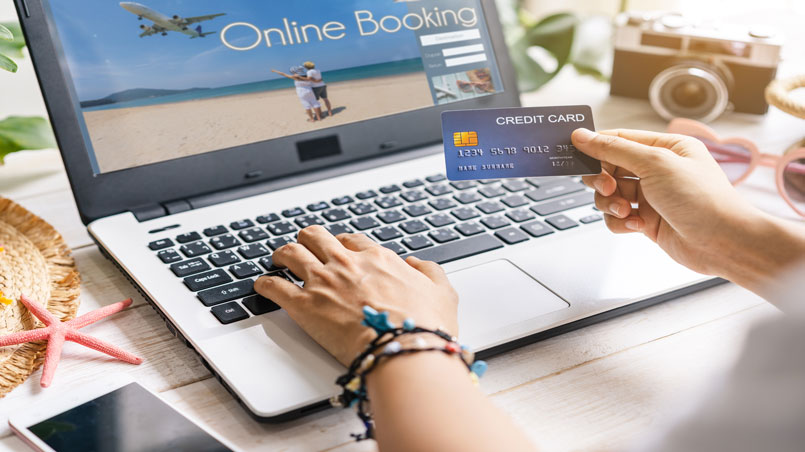 booking travel with credit card