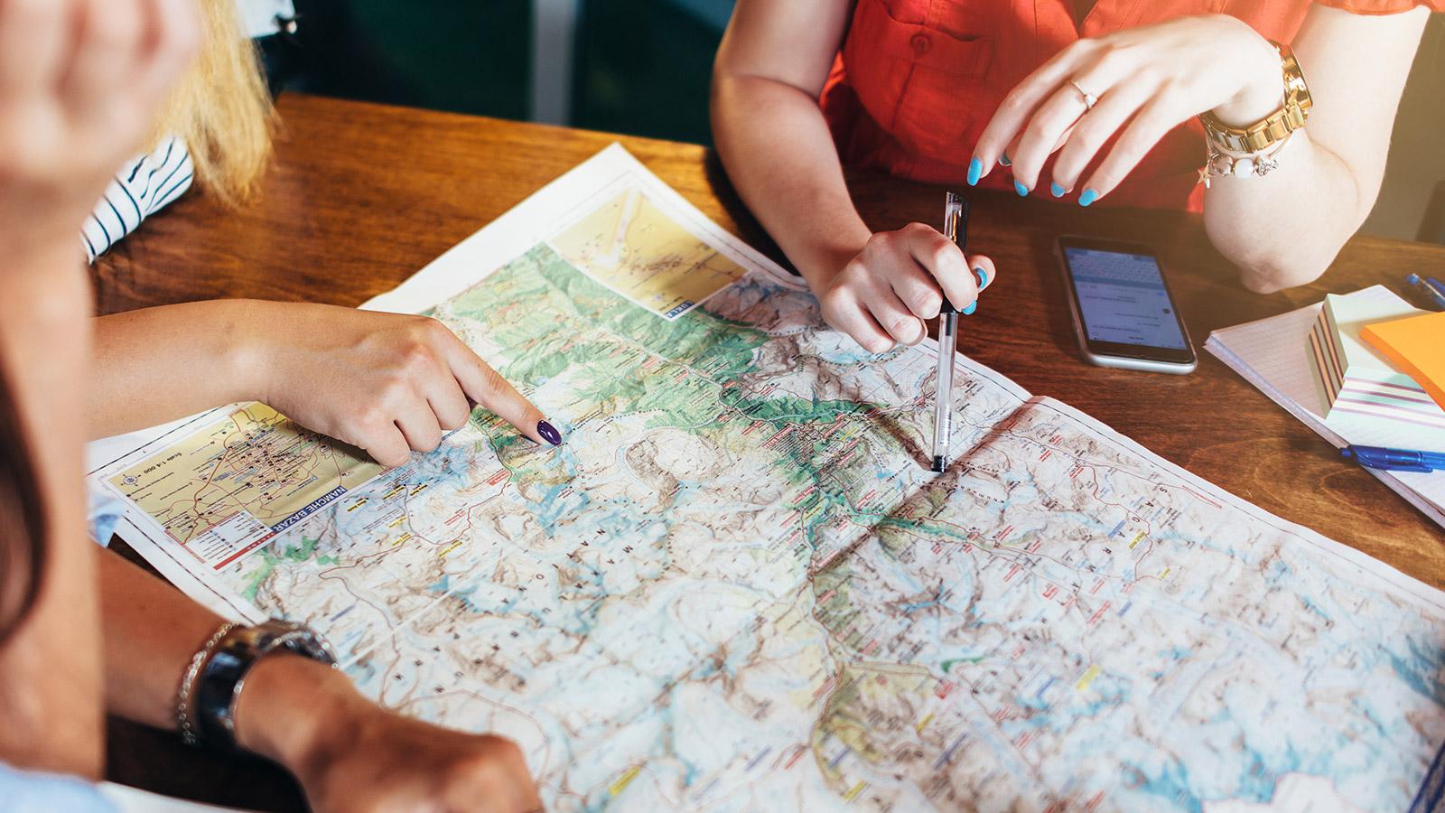 Travel agent consultation